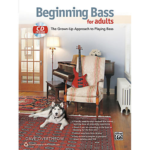 Alfred Beginning Bass for Adults Book & CD thumbnail