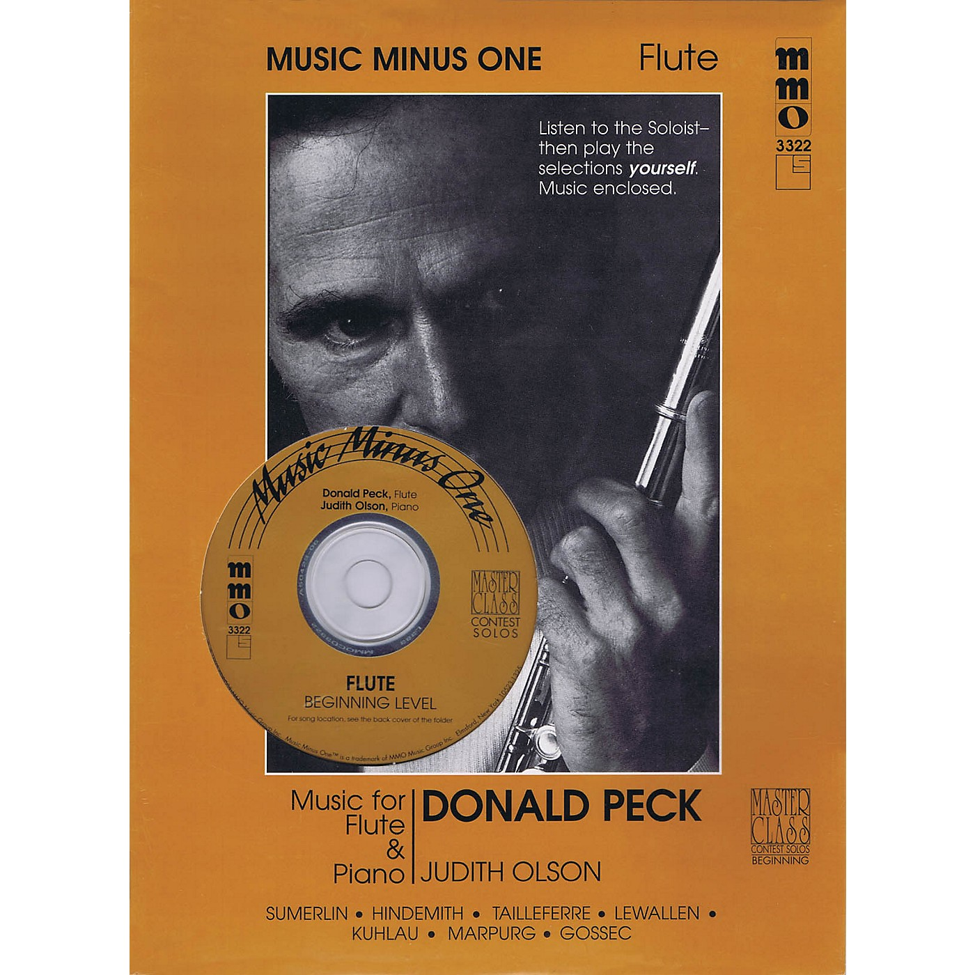 Music Minus One Beginning Flute Solos - Volume 2 Music Minus One Series Softcover with CD thumbnail