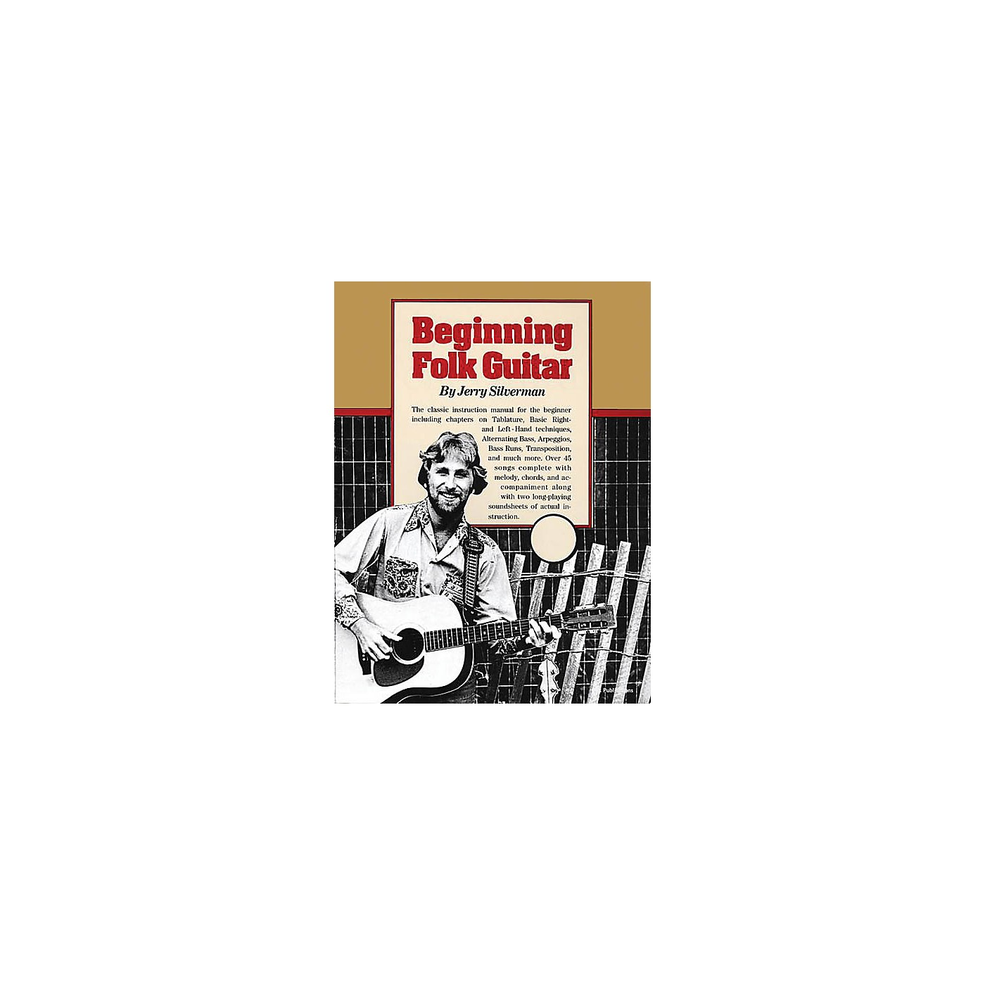 Oak Beginning Folk Guitar Music Sales America Series Softcover Written by Jerry Silverman thumbnail