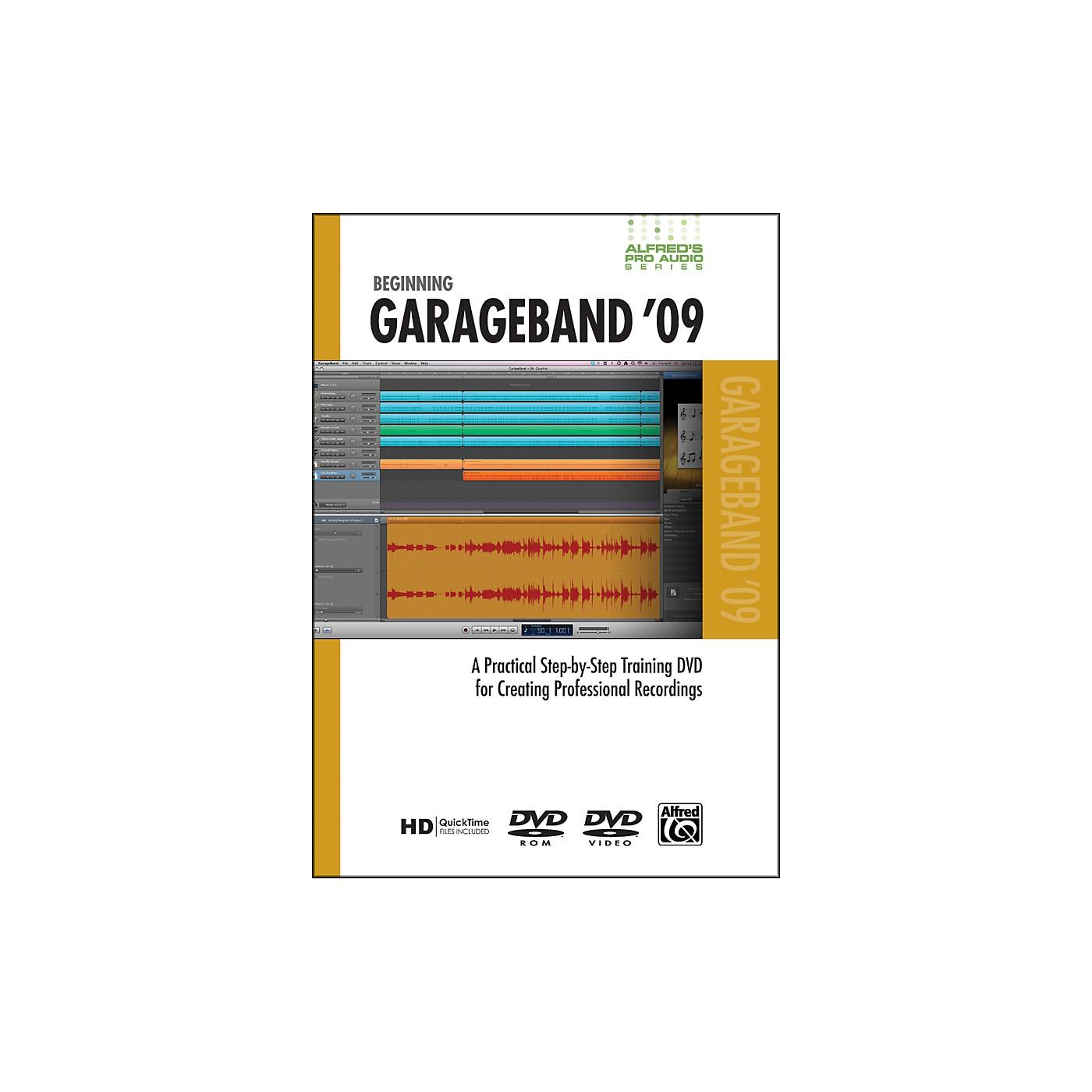 Alfred Beginning GarageBand '09 (DVD) thumbnail