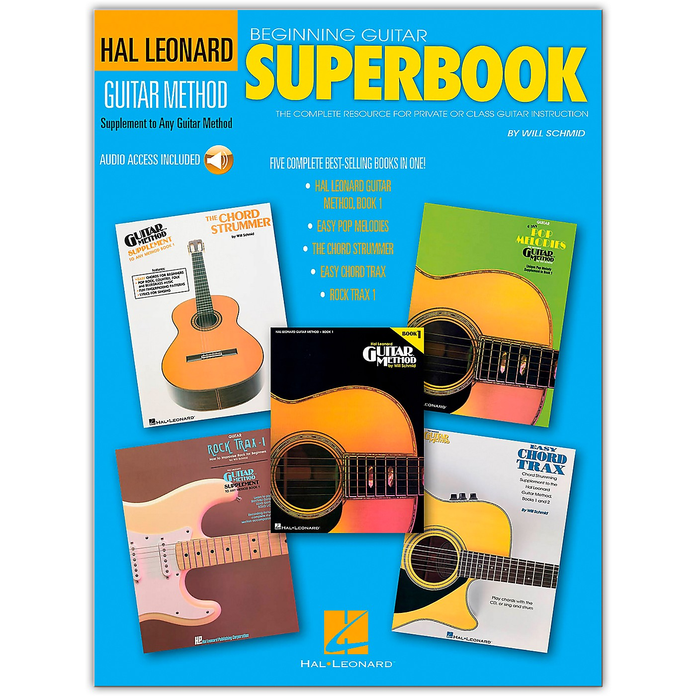 Hal Leonard Beginning Guitar Superbook (Book and Online Audio Package) thumbnail