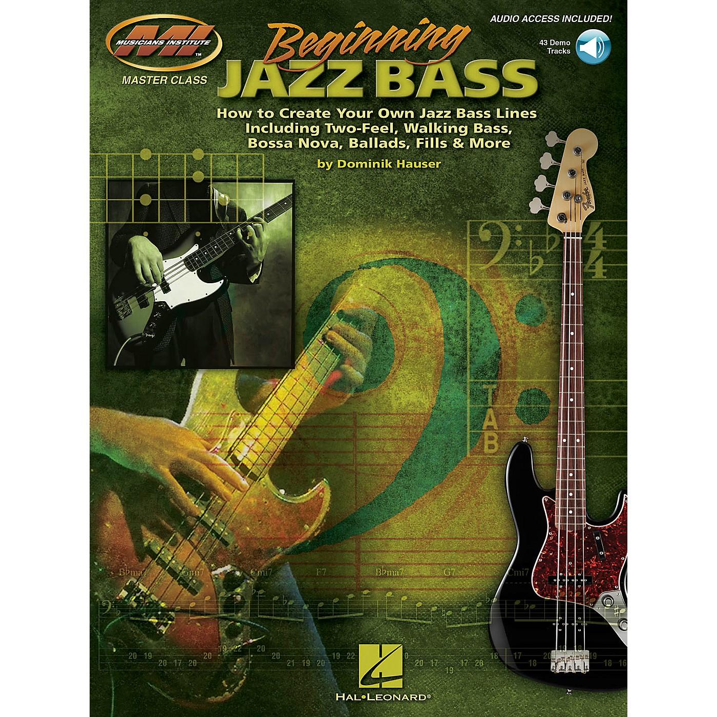 Musicians Institute Beginning Jazz Bass Musicians Institute Press Series Softcover Audio Online Written by Dominik Hauser thumbnail
