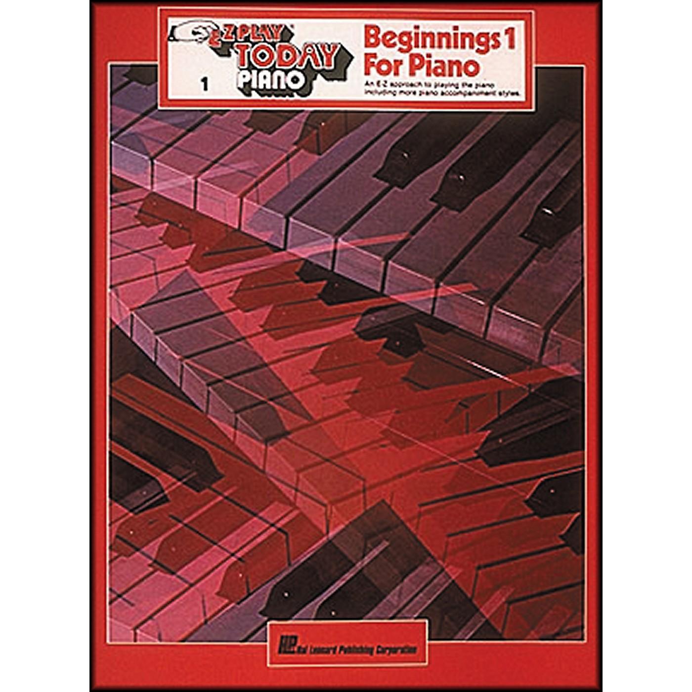 Hal Leonard Beginnings for Piano Volume 1 thumbnail