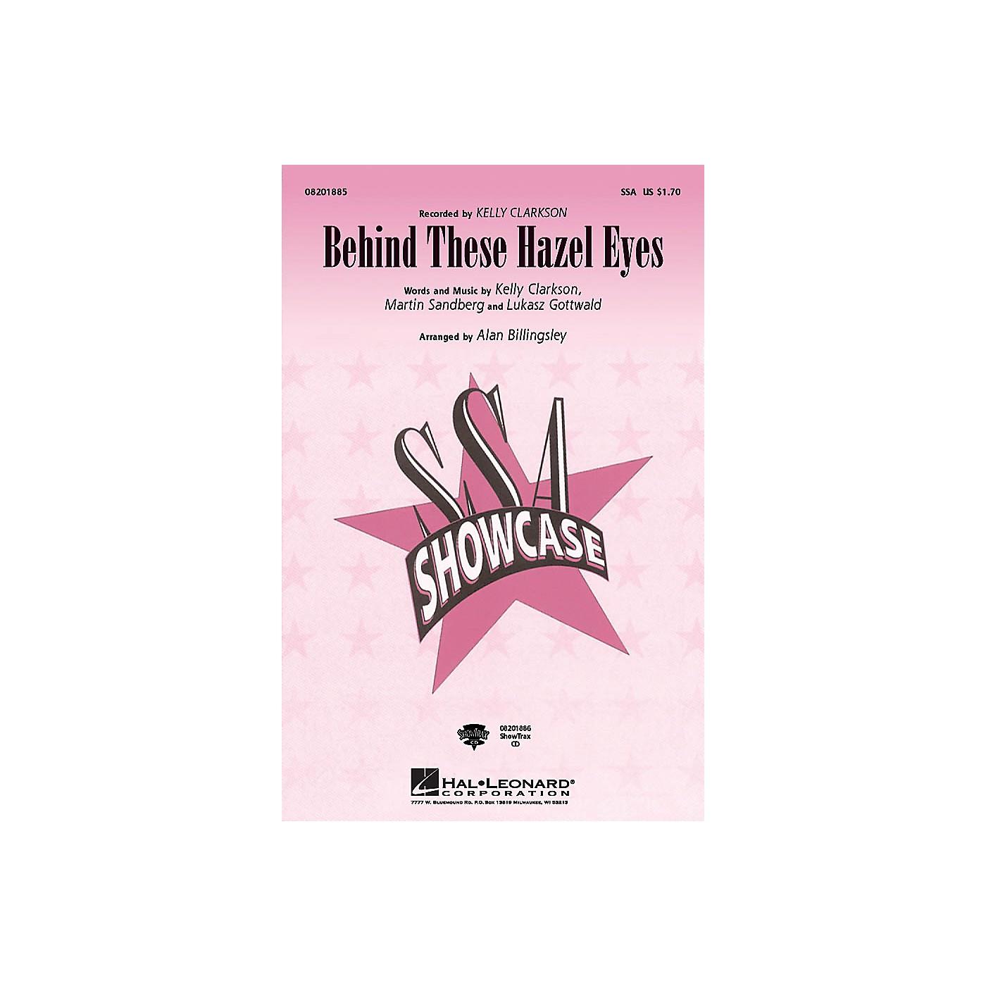 Hal Leonard Behind These Hazel Eyes SSA by Kelly Clarkson arranged by Alan Billingsley thumbnail