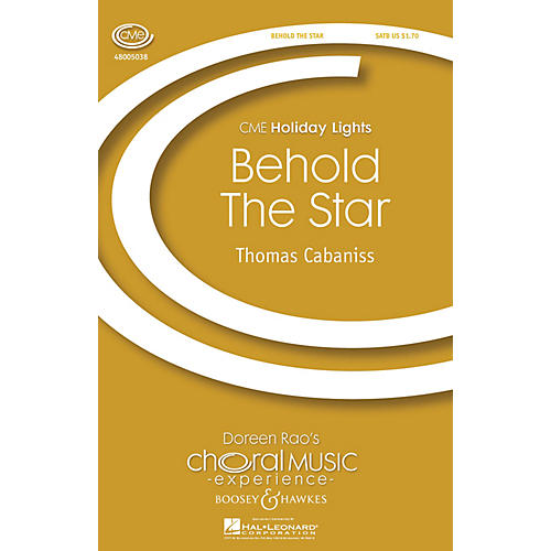 Boosey and Hawkes Behold the Star (CME Holiday Lights) SATB with Harp composed by Thomas Cabaniss thumbnail