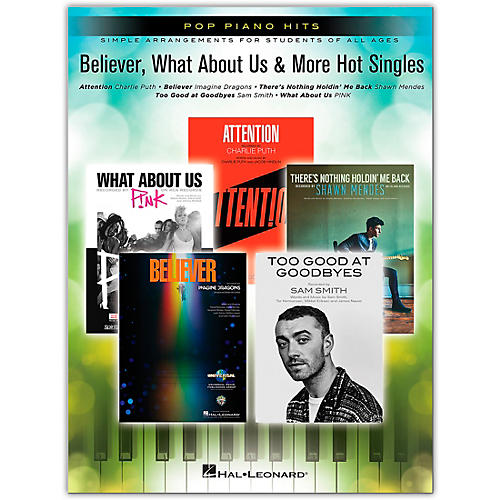 Hal Leonard Believer, What About Us & More Hot Singles - Pop Piano Hits thumbnail