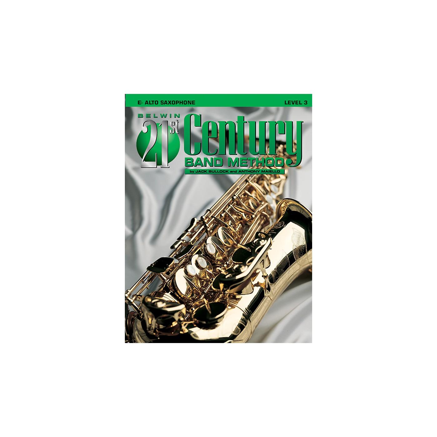 Alfred Belwin 21st Century Band Method Level 3 Alto Sax Book thumbnail