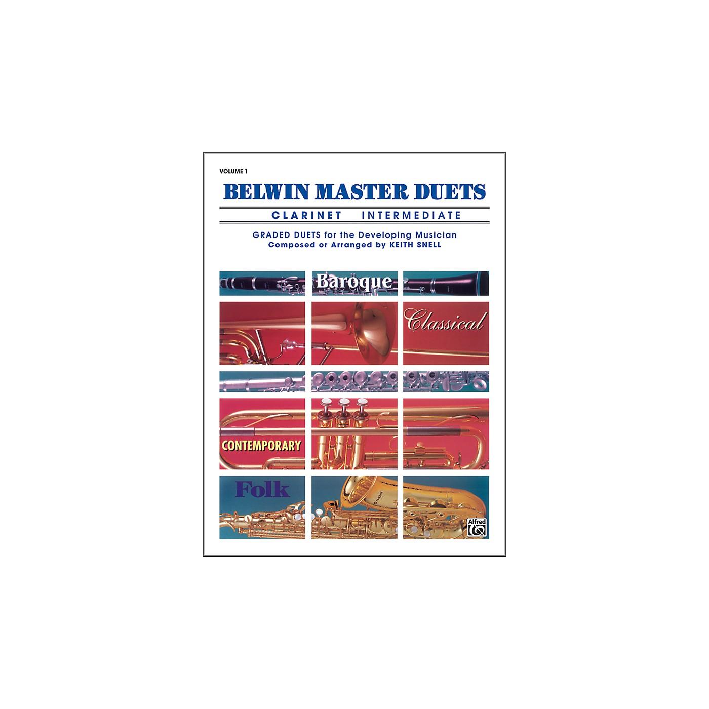 Alfred Belwin Master Duets (Clarinet) Intermediate Volume 1 thumbnail