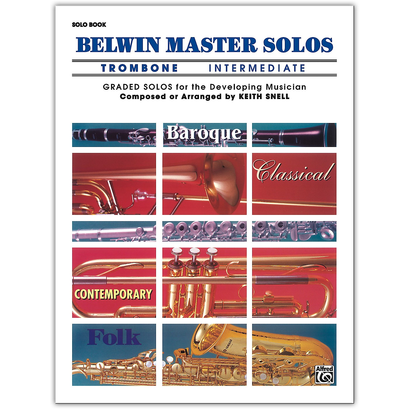 Alfred Belwin Master Solos Volume 1 (Trombone) Intermediate Solo Book Only thumbnail