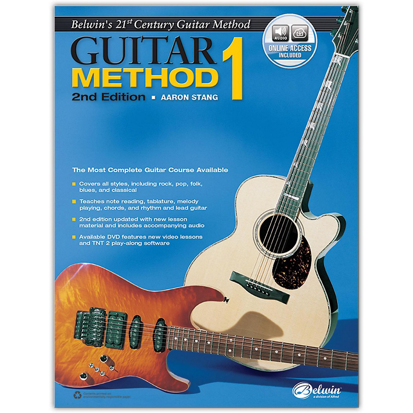 Alfred Belwin's 21st Century Guitar Method 1, Book & Online Audio  2nd Edition thumbnail