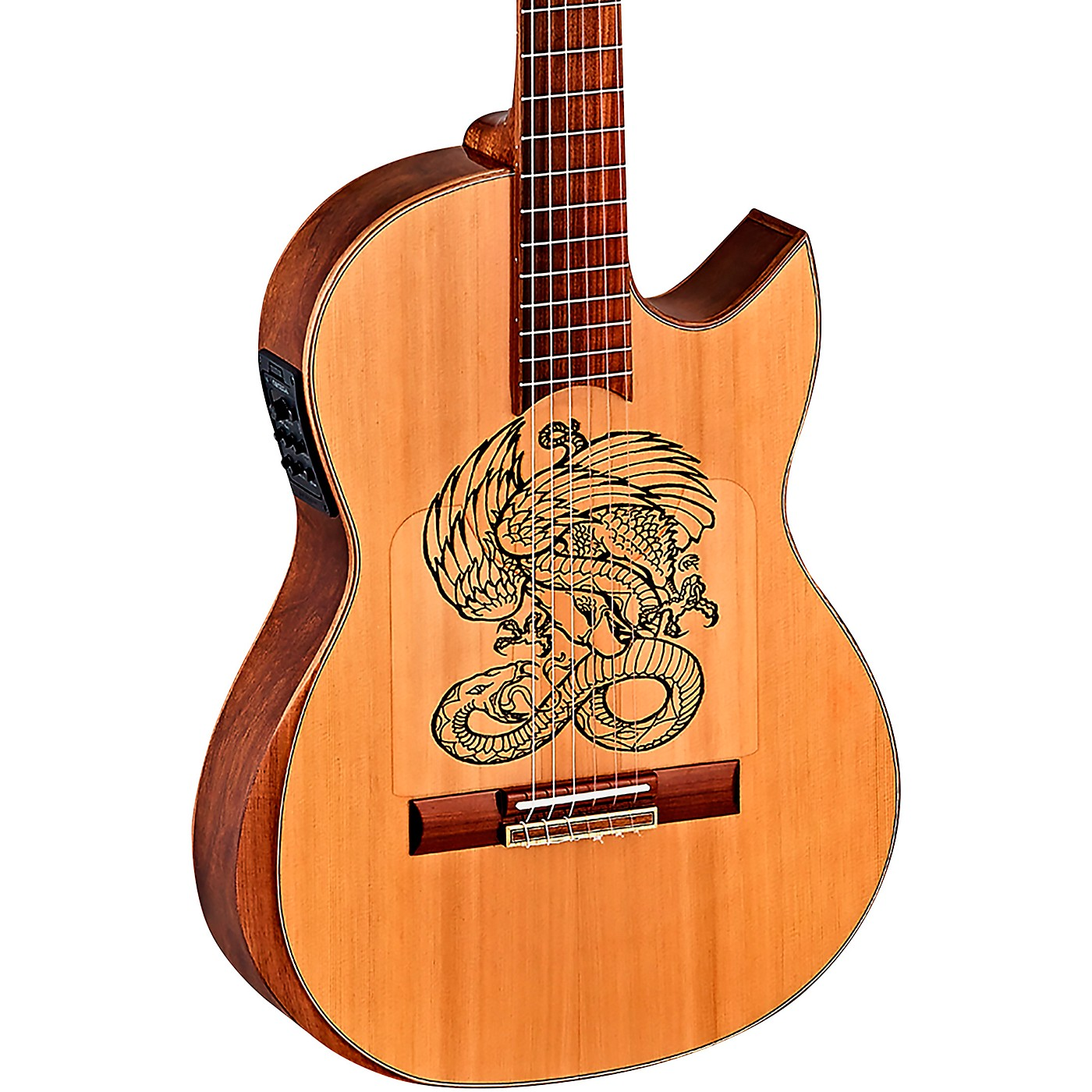 Ortega Ben Woods Flametal-One Signature Flamenco Acoustic-Electric Guitar thumbnail