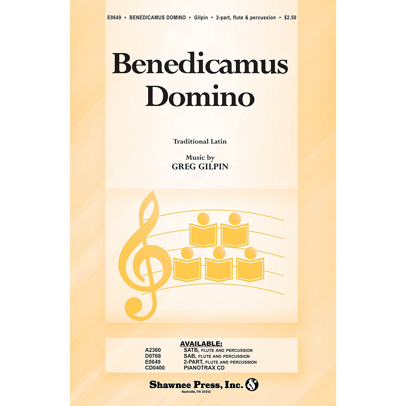 Shawnee Press Benedicamus Domino 2-Part composed by Greg Gilpin thumbnail