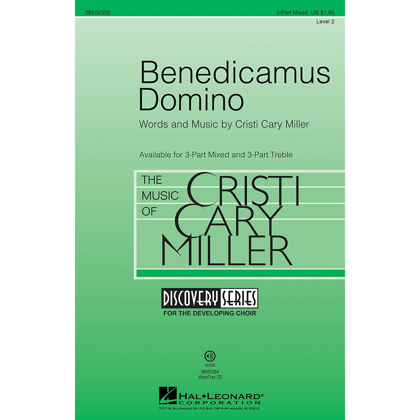 Hal Leonard Benedicamus Domino (Discovery Level 2) 3-Part Mixed composed by Cristi Cary Miller thumbnail