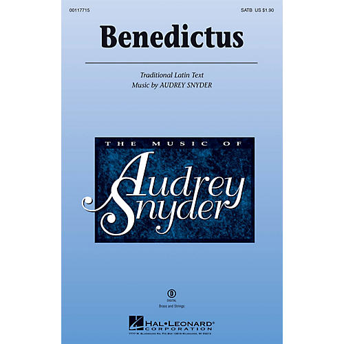 Hal Leonard Benedictus SATB composed by Audrey Snyder thumbnail