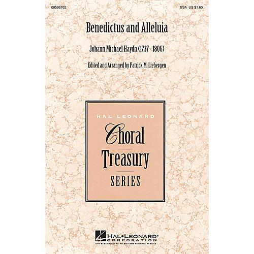 Hal Leonard Benedictus and Alleluia SSA arranged by Patrick M. Liebergen thumbnail