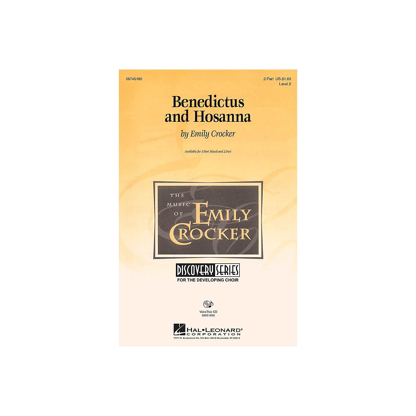 Hal Leonard Benedictus and Hosanna VoiceTrax CD Composed by Emily Crocker thumbnail