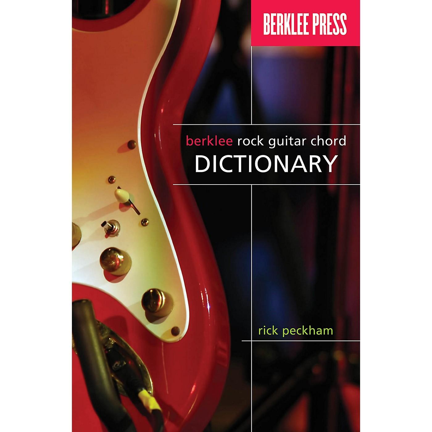 Berklee Press Berklee Rock Guitar Chord Dictionary Berklee Guide Series Softcover Written by Rick Peckham thumbnail