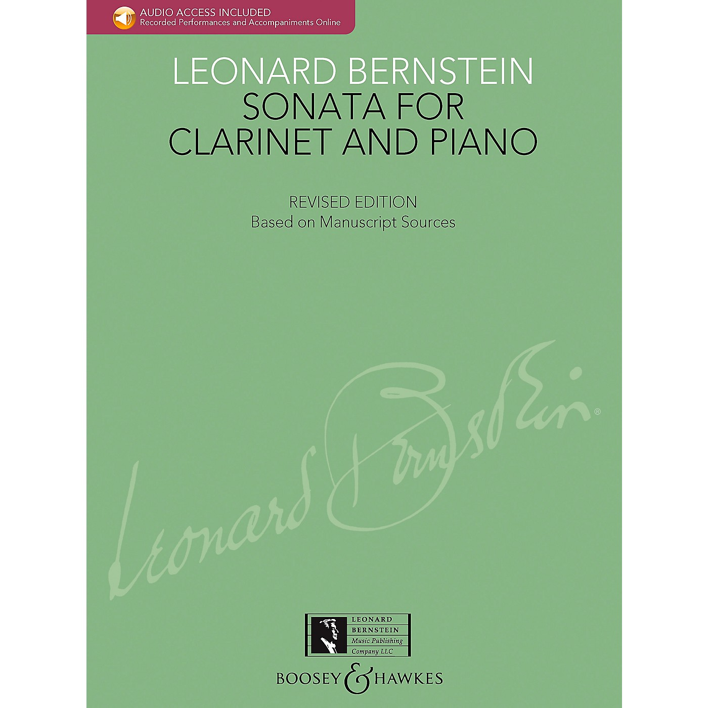 Boosey and Hawkes Bernstein - Sonata for Clarinet and Piano Boosey & Hawkes Chamber Music BK/CD by Leonard Bernstein thumbnail