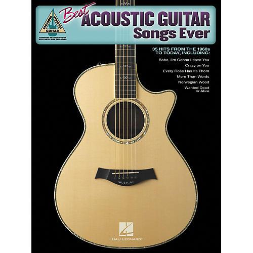 Hal Leonard Best Acoustic Guitar Songs Ever Guitar Tab Songbook thumbnail