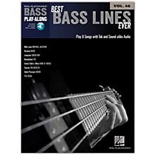 Hal Leonard Best Bass Lines Ever - Bass Play-Along Volume 46 Book/CD