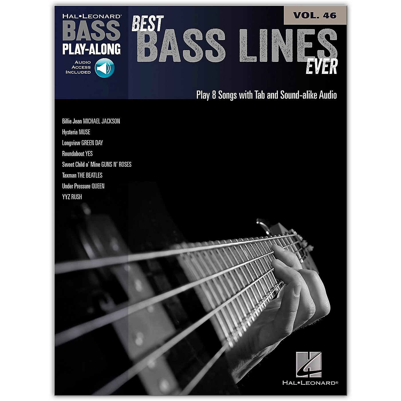 Hal Leonard Best Bass Lines Ever - Bass Play-Along Volume 46 Book/Online Audio thumbnail