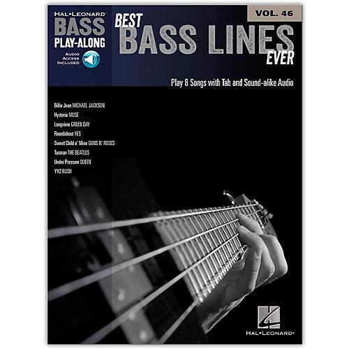 Hal Leonard Best Bass Lines Ever - Bass Play-Along Volume 46 Book/Online Audio thumbnail