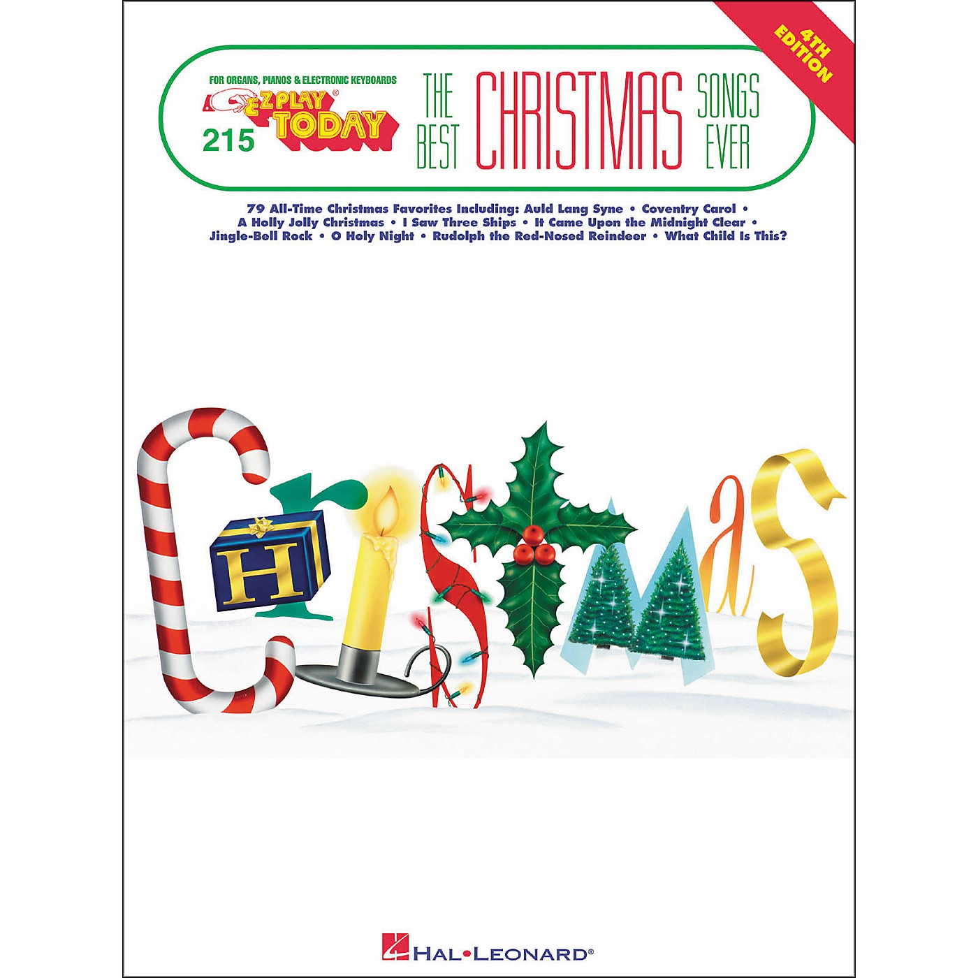 Hal Leonard Best Christmas Songs Ever 4th Edition E-Z Play 215 thumbnail