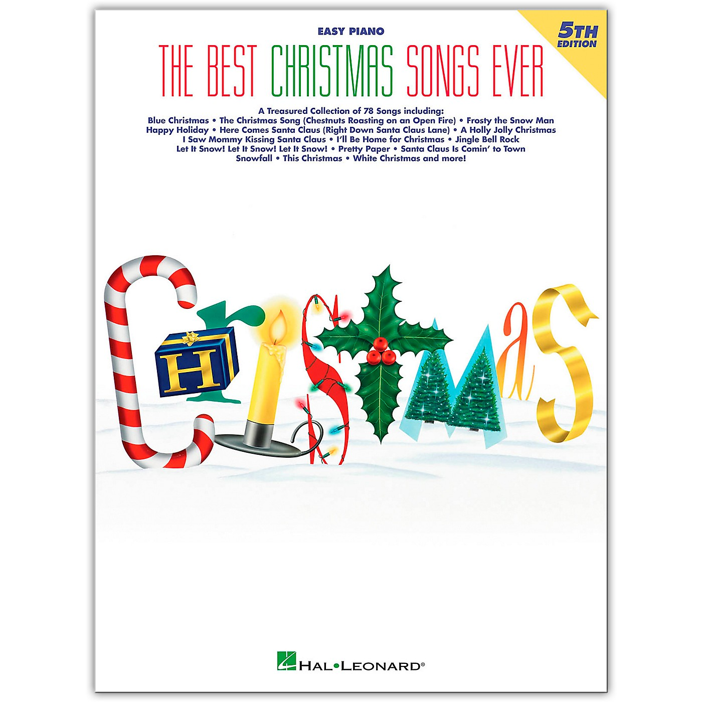 Hal Leonard Best Christmas Songs Ever, 5th Edition For Easy Piano thumbnail
