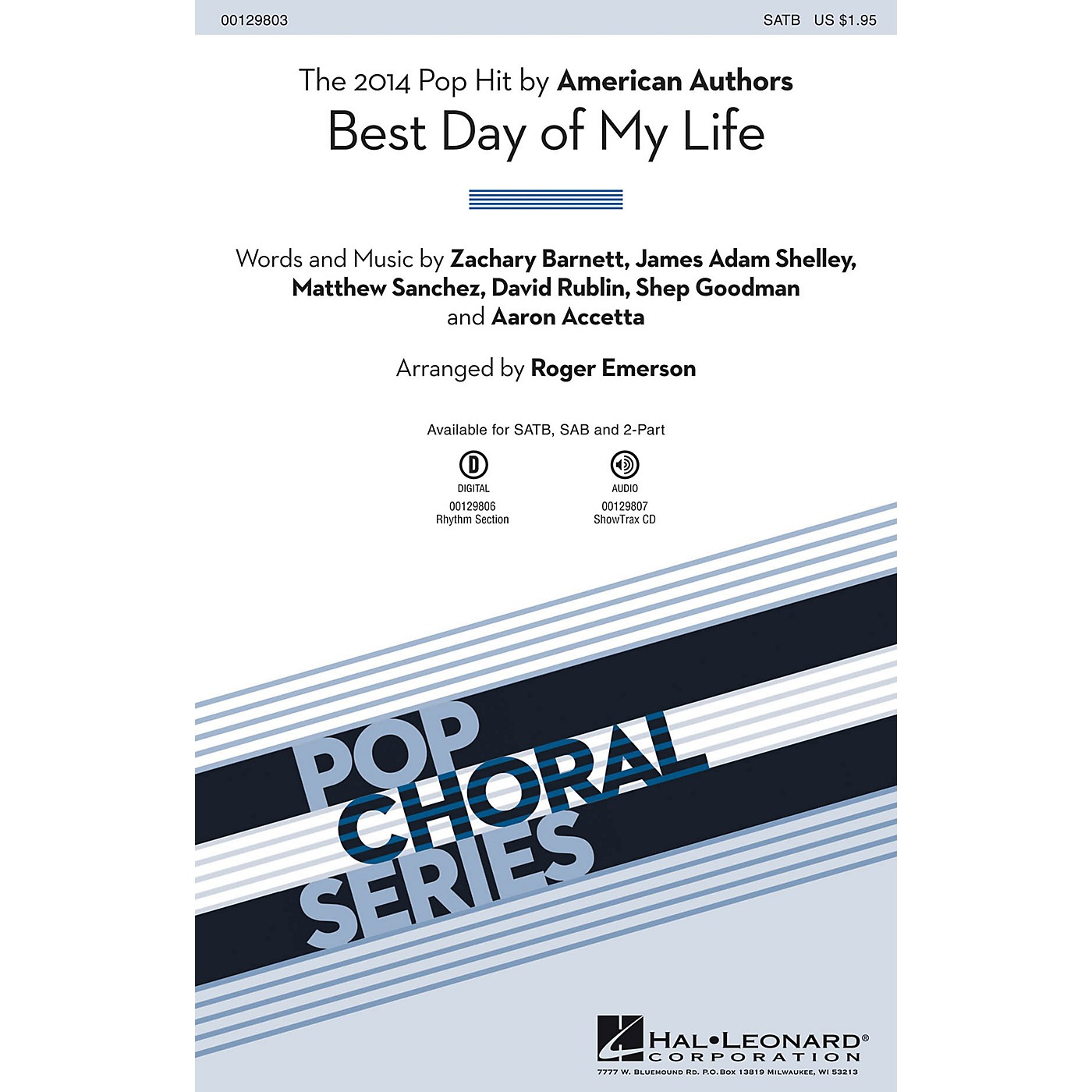Hal Leonard Best Day of My Life 2-Part by American Authors Arranged by Roger Emerson thumbnail