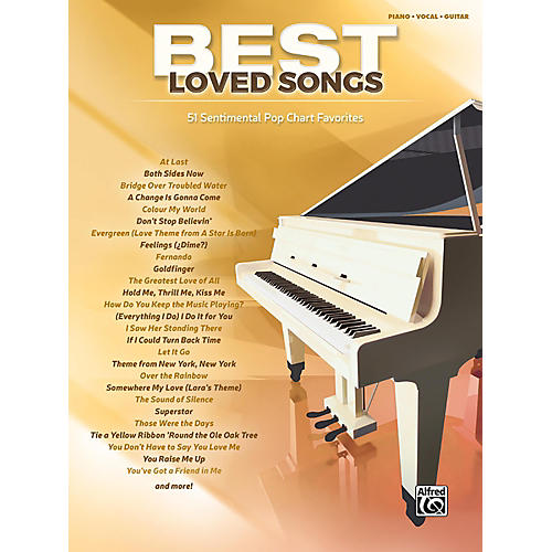 Alfred Best Loved Songs Piano/Vocal/Guitar Songbook thumbnail