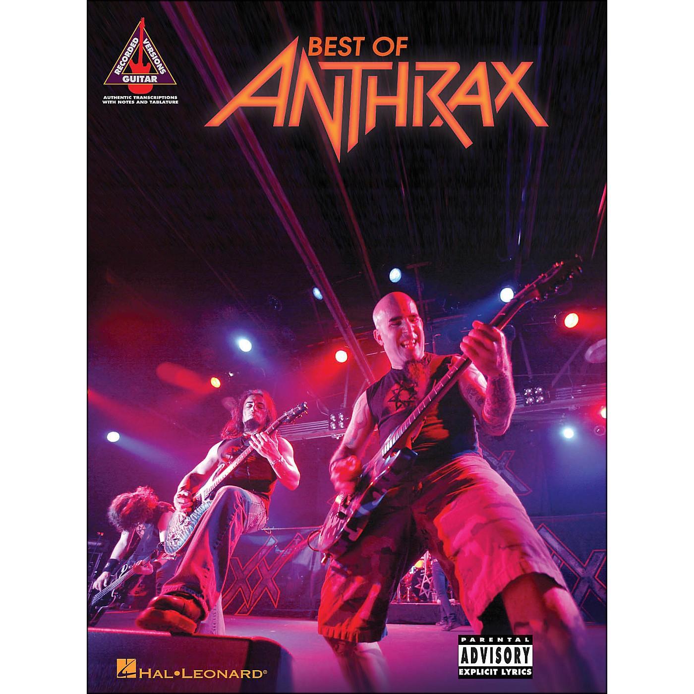 Hal Leonard Best Of Anthrax Guitar Tab Songbook thumbnail