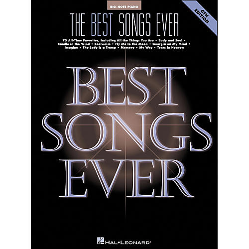 Hal Leonard Best Songs Ever 6Th Edition for Big Note Piano thumbnail