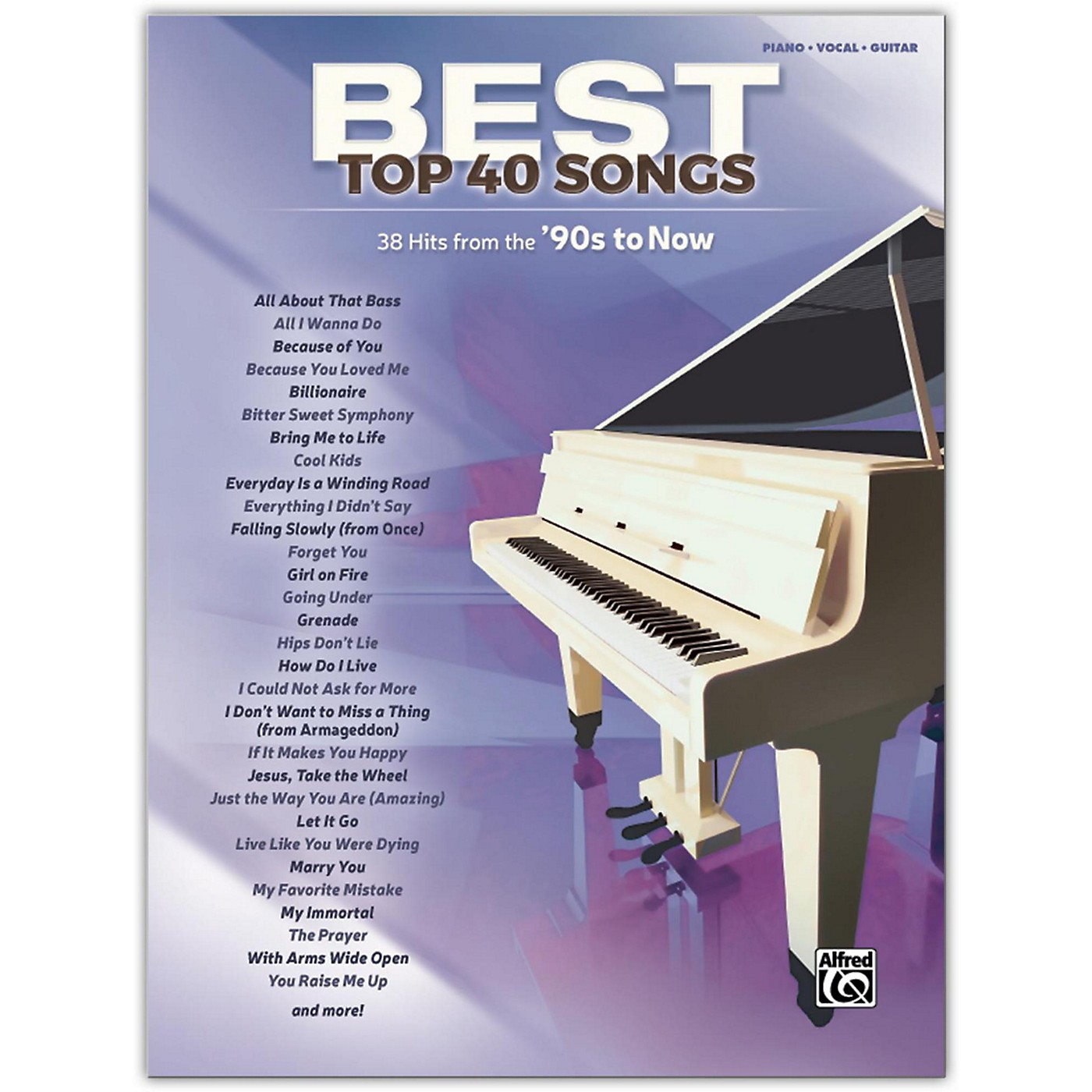 Alfred Best Top 40 Songs: '90s to Now, Piano/Vocal/Guitar Songbook thumbnail