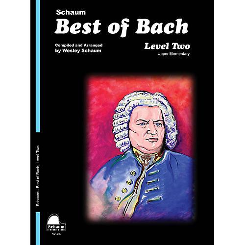 SCHAUM Best of Bach (Level 2 Upper Elem Level) Educational Piano Book by Johann Sebastian Bach thumbnail