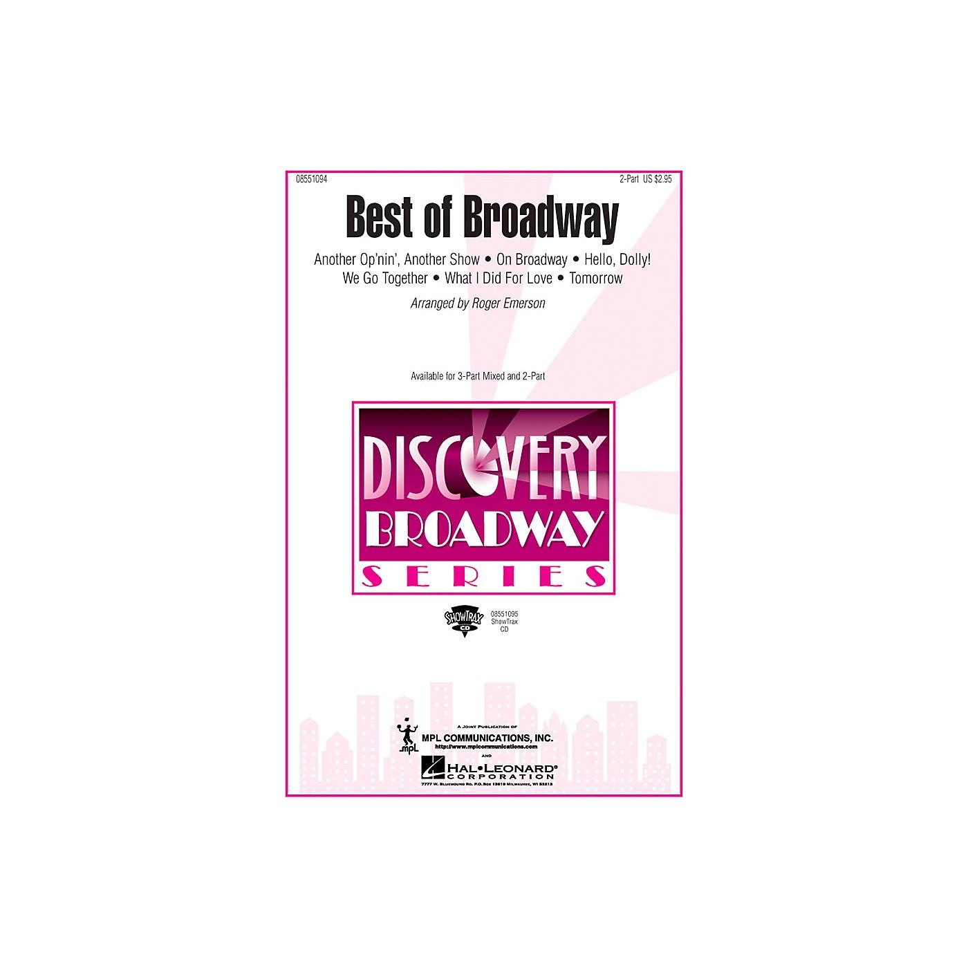Hal Leonard Best of Broadway (Medley) 2-Part arranged by Roger Emerson thumbnail