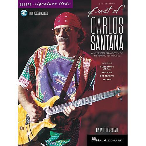 Hal Leonard Best of Carlos Santana - Signature Licks - 2nd Edition BK/Audio Online by Wolf Marshall thumbnail