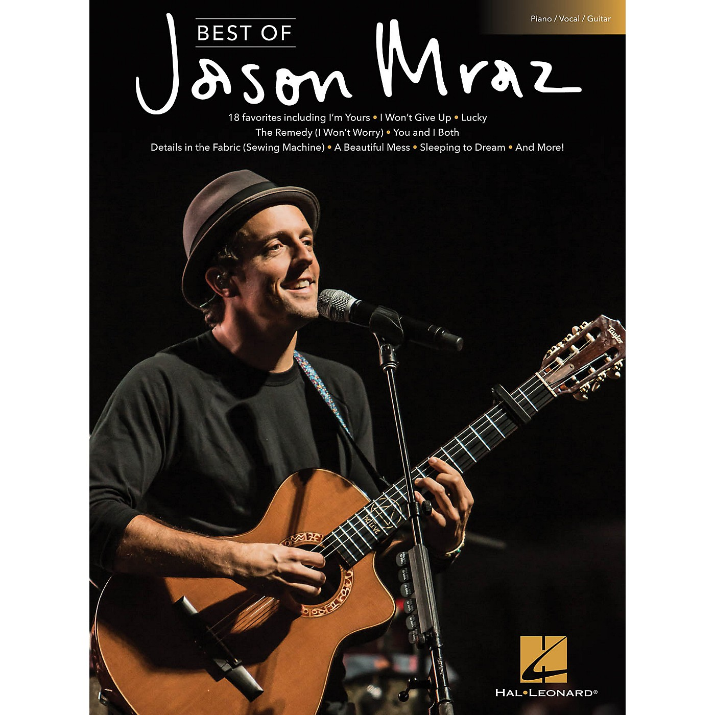 Hal Leonard Best of Jason Mraz Piano/Vocal/Guitar Songbook thumbnail