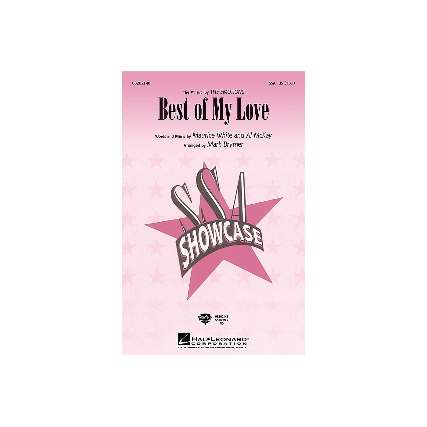 Hal Leonard Best of My Love ShowTrax CD by The Emotions Arranged by Mark Brymer thumbnail
