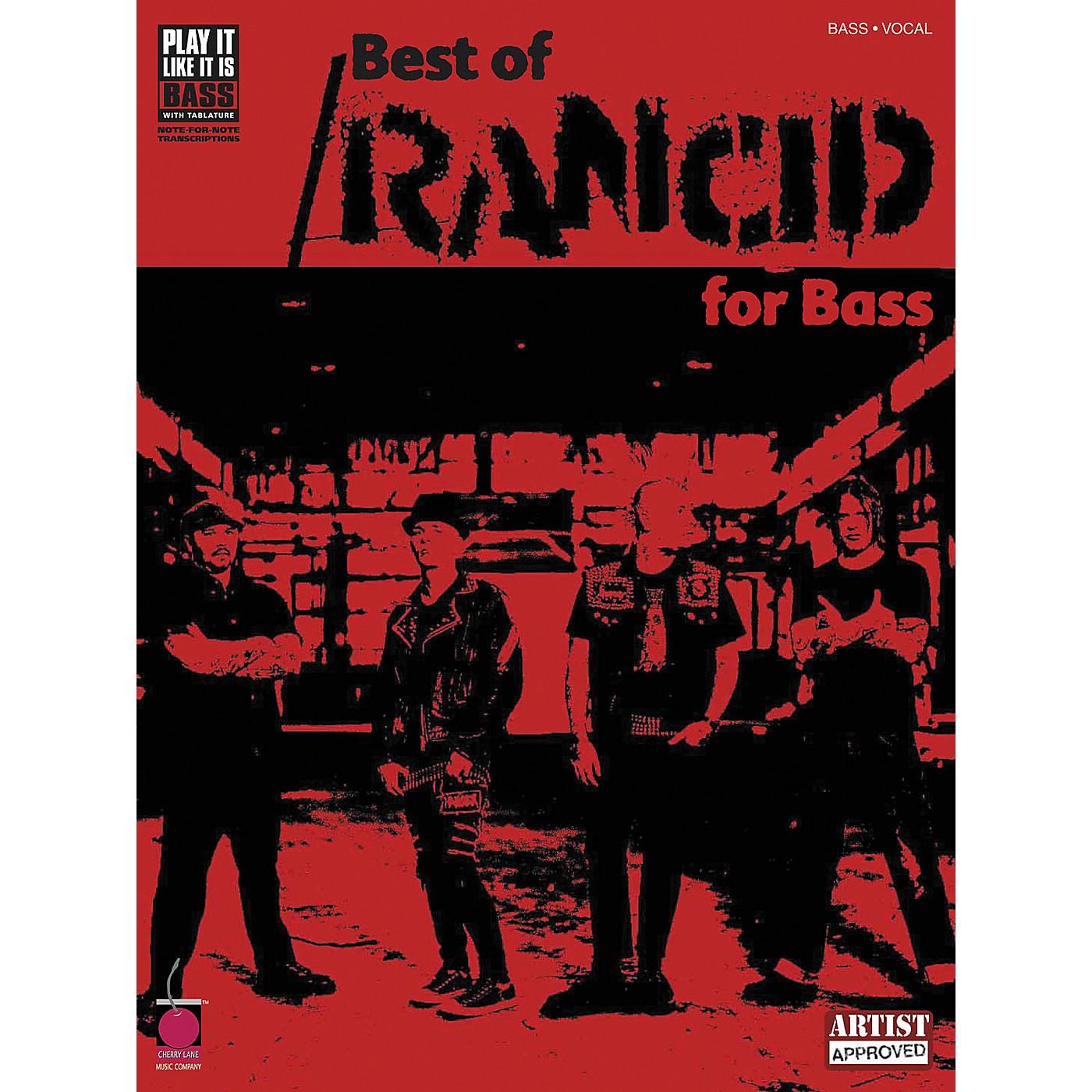 Cherry Lane Best of Rancid Bass Guitar Tab Songbook thumbnail