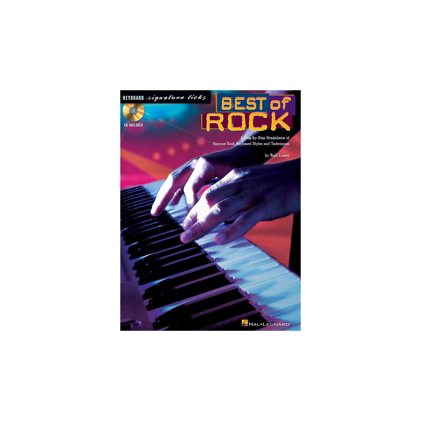 Hal Leonard Best of Rock Signature Licks Keyboard Series Softcover with CD Written by Todd Lowry thumbnail