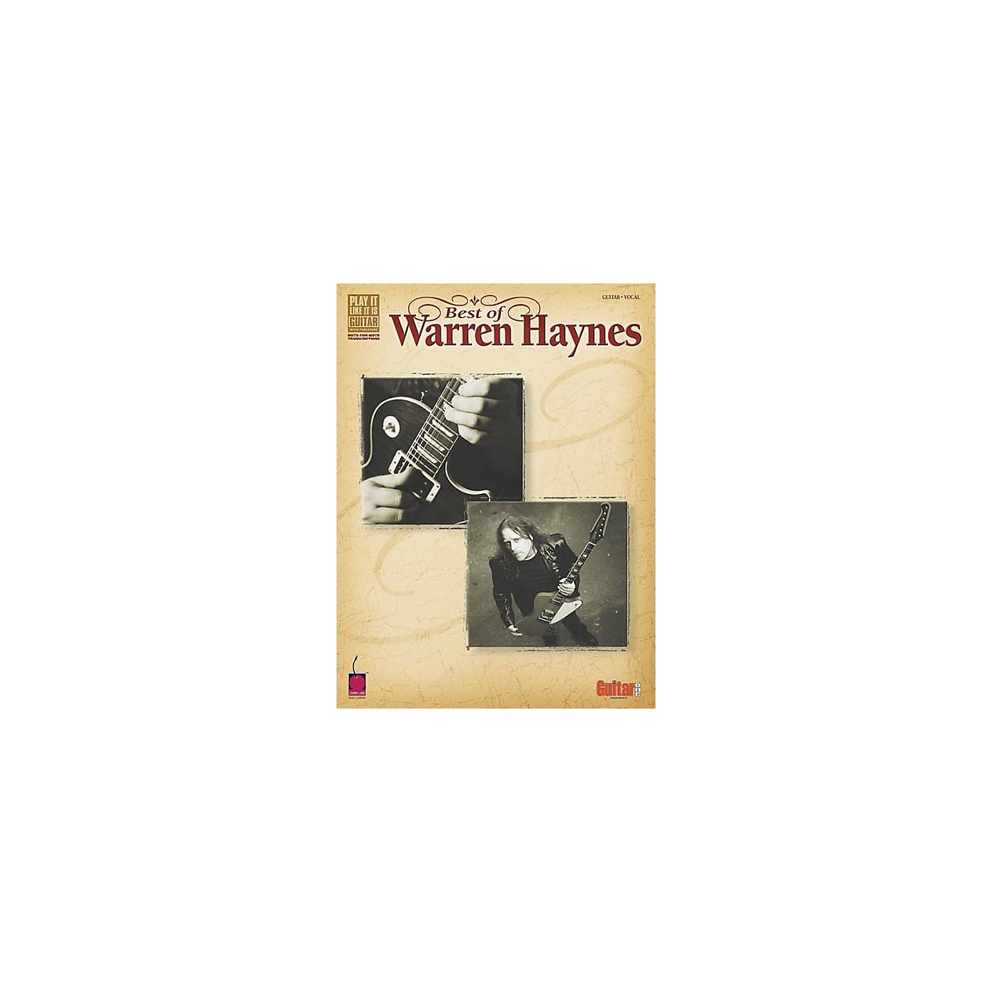 Cherry Lane Best of Warren Haynes Guitar Tab Songbook thumbnail