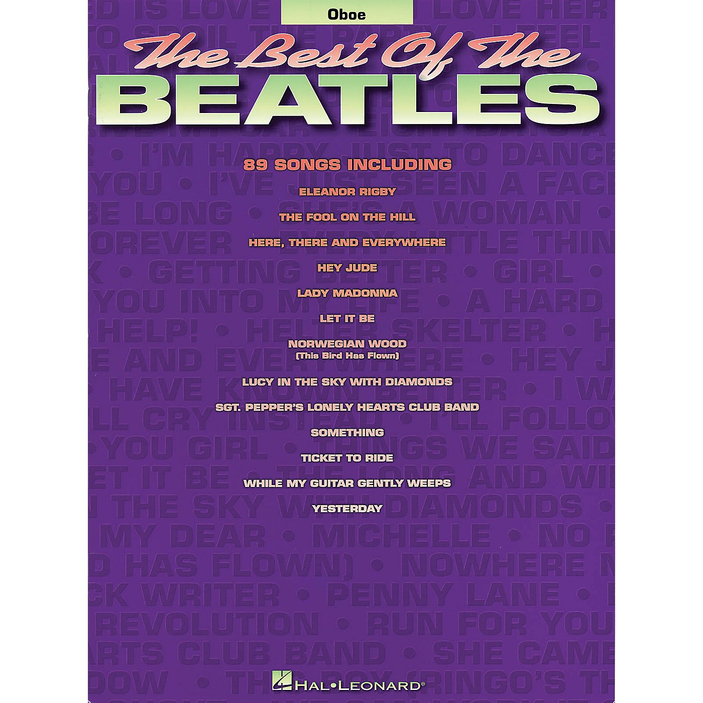 Hal Leonard Best of the Beatles for Oboe Chart Series Book Performed by The Beatles thumbnail