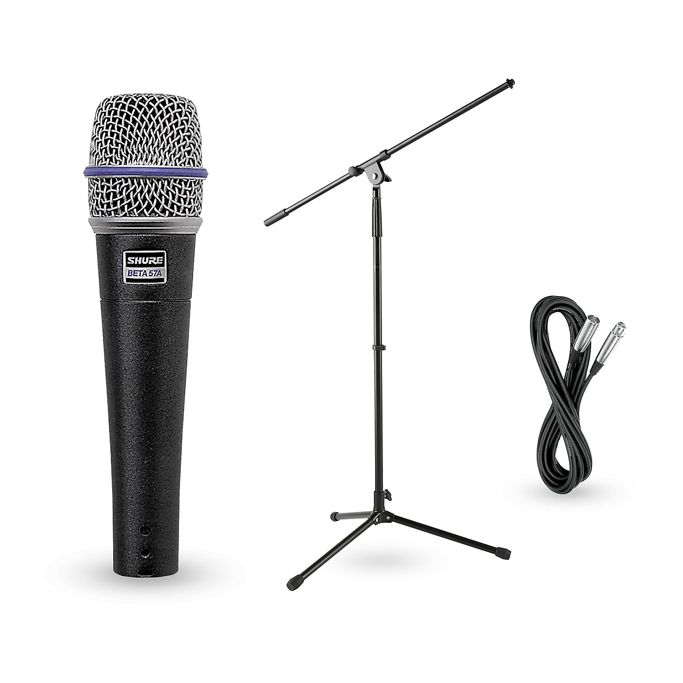 Shure Beta 57A Dynamic Mic with Cable and Stand thumbnail