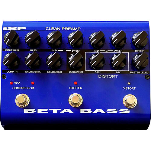 ISP Technologies Beta PreAmp Bass Effects Pedal thumbnail
