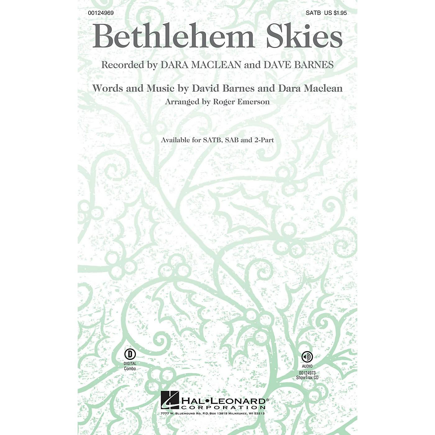 Hal Leonard Bethlehem Skies 2-Part Arranged by Roger Emerson thumbnail