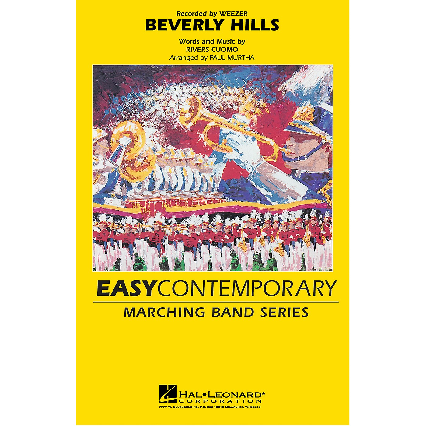 Hal Leonard Beverly Hills Marching Band Level 2-3 by Weezer Arranged by Paul Murtha thumbnail
