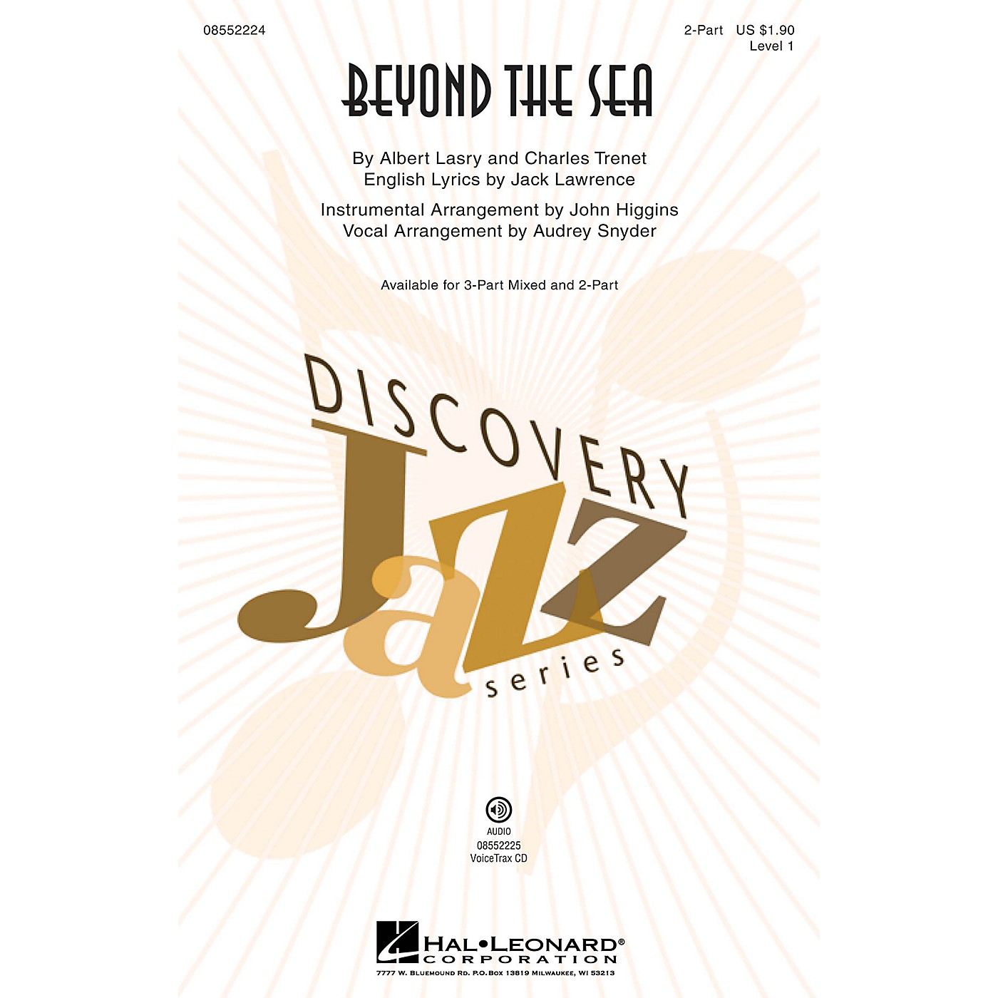 Hal Leonard Beyond the Sea (Discovery Level 1) 2-Part by Bobby Darin arranged by Audrey Snyder thumbnail