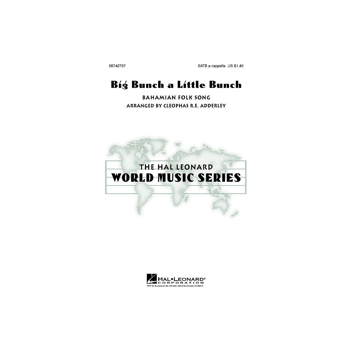 Hal Leonard Big Bunch a Little Bunch SATB a cappella arranged by Cleophas Adderley thumbnail