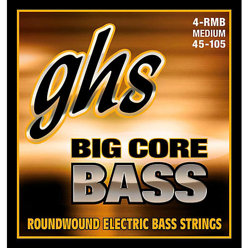 GHS Big Core Drop Tuning Bass Guitar Strings (45-105) thumbnail