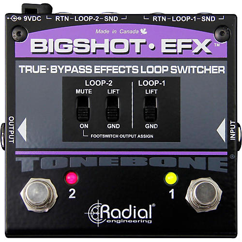 Radial Engineering BigShot EFX Effects Loop Switcher Pedal thumbnail
